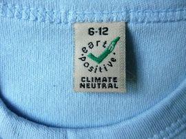 Babykleidung/ -schuhe - Baby Organic T-Shirt EarthPositive blau