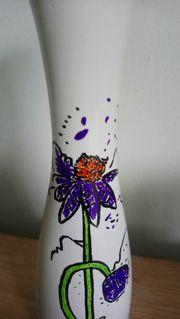 selbstbemalte Vase