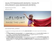 Qualitätsmanager Quality Assurance QA Manager