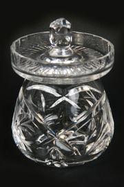 Kristallschüssel-Behälter Bonboniere Konfitüre Senf schwer