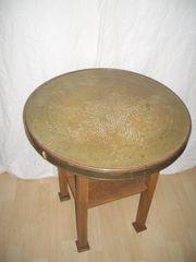 Messingtisch Rauchtisch Spieltisch antik