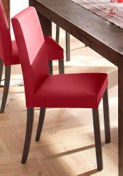 NEU Set 4 Esszimmer-Stühle rot