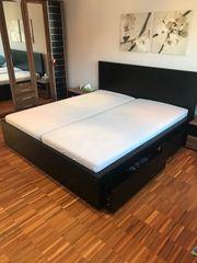 Ikea-Bett mit 4 Schubladen Lattenrost