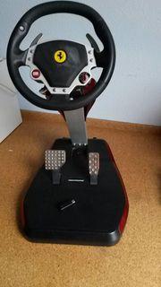 Lenkrad-Pedalset Trustmaster Ferrari wireless