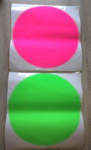 11 Neonkreise Ø47cm Selbstklebend Klebefolie