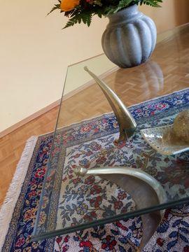 Couchtische - Glastisch Tisch- Luxus Couchtisch Messing