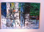 2 Acrylgemälde Abstrakt auf Leinwand