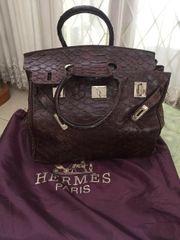 HERMÈS Handtasche Braun Damen Tasche
