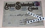 Brief August Stukenbrok Einbeck - Fahrrad-Händler