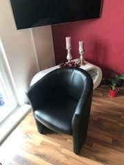 Sessel Kunstleder schwarz