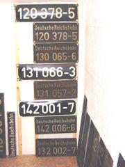 Suche Lokschilder Betriebsbücher Bw -Rbd