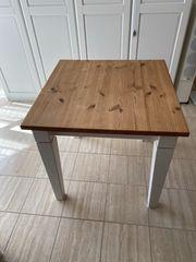 Massivholz Esstisch mit Ansteckplatte