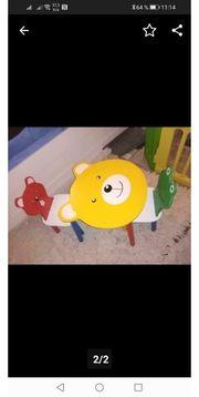 Verkaufe Kindertisch Bären mit 2