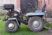Kleintraktor Eigenbau Traktor mit Ackerschiene