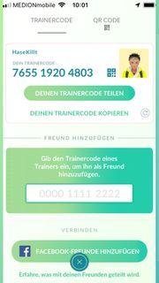 Pokémon Go Freund gesucht