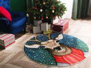Teppich Weihnachtsmotiv ø140 cm EREGLI
