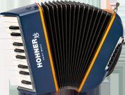 HOHNER Akkordeon XS blau-orange für Einsteiger