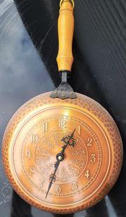 Uhr Kupferpfanne