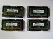 4 Stück Notebookspeicher 1GB PC2-5300