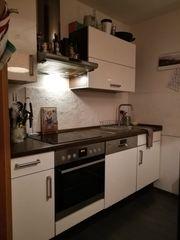 Küche Hochglanz Weiß inkl Kühlschrank