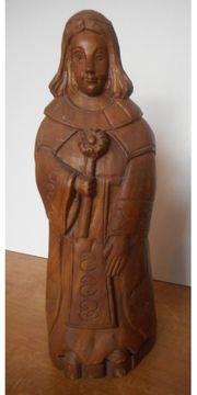 seltene alte Holzfigur Unikat Vollholz