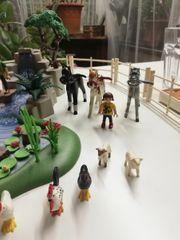 Playmobil Tierhof mit Pferden zusammengestelltes