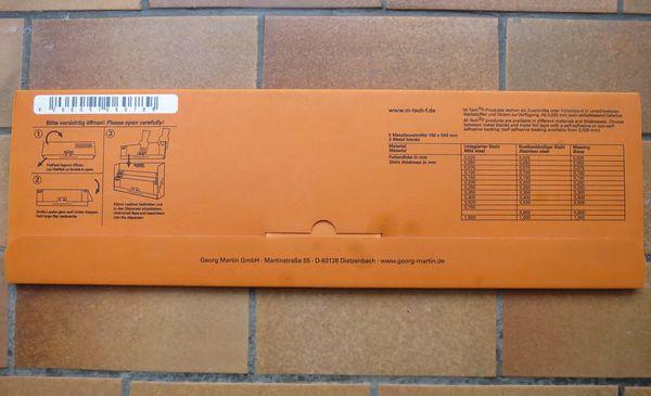 Edelstahl-Klebebleche 0 4 mm dick