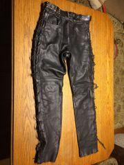 Damen Bikerhose Leder Gr 40