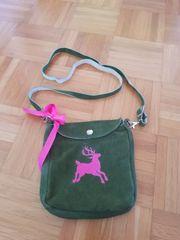 Trachtentasche zum Umhängen aus Wildleder