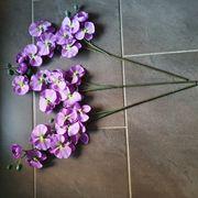 Kunstblumen Orchidee lila violett Deko