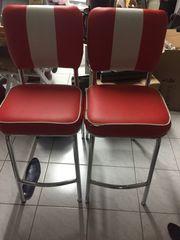 Küchenhocker - 2 Stück in rot -