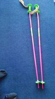 Skistöcke 120 cm pink grün