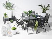 Gartentisch Stahl schwarz 140 x