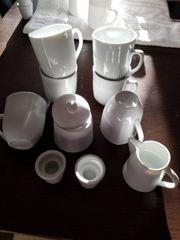 Kaffeegeschirr Kerzenhalter Milchkännchen Zuckerdose 10-teilig