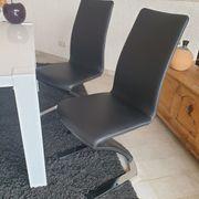 4 Esszimmerstühle Schwingstühle neuwertig