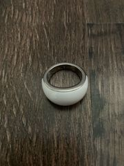 Fossil Ring Weiß
