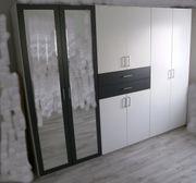 Kleiderschrank - Vorratsschrank - Schrank - weiß - grau