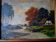 2 Gemälde Norddeutsch sig dat