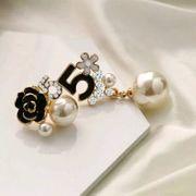 Elegante Perlenohrringe Zirkonia Nr 5
