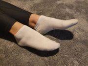 Geile riechenden Socken einer blonden
