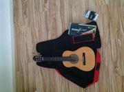 Gitarre mit pass Tasche Fußschemel