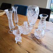 Bleikristall diverse Vasen und Schalen