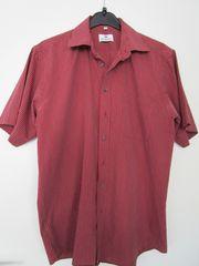 Herren-Sommerhemd von Kingfield weinrot Gr