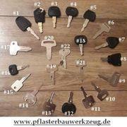Baumaschinen- Zündschlüssel Bagger- Minibagger- Radlader-
