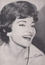 Historisches Maria Callas-Programmheft