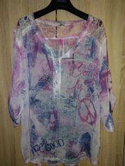Bluse Tunika leicht transparent mit