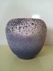 Vintage - Keramikvase - blau - ca 22