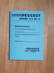 Mofa Blanko ABE Papiere Peugeot