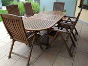 Teak Gartentisch und 6 Stühle -