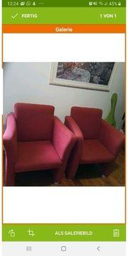 2 rote Sessel wie neu